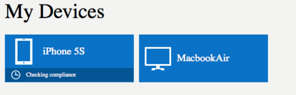 Mac in Intune portal