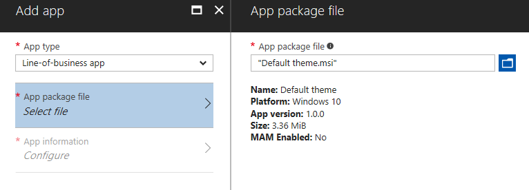 if you ever need to update your template or force a new installation just replace your msi file with a higher version number and intune will take care of