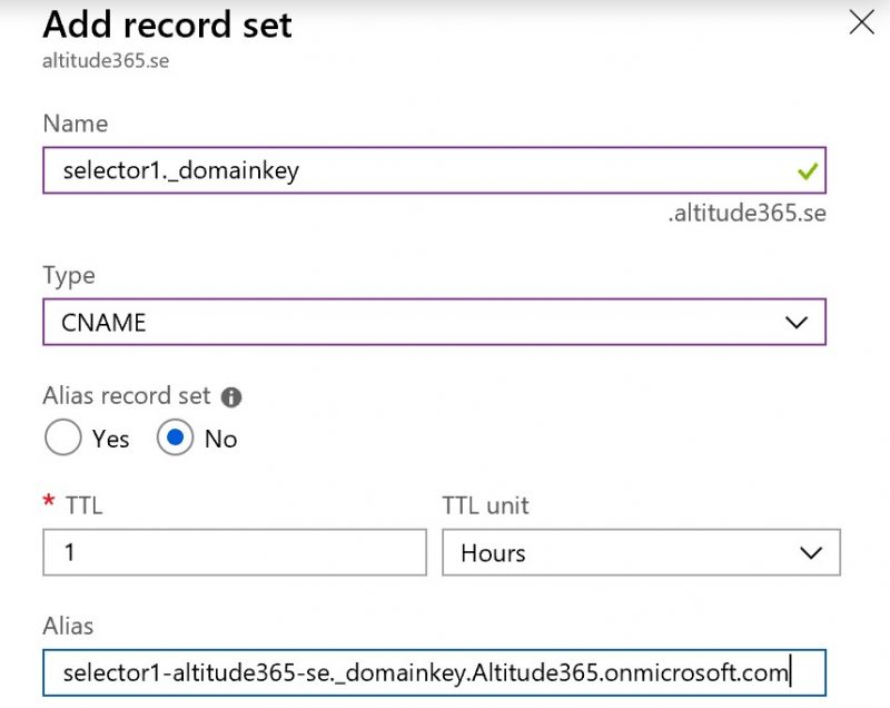 Enable DKIM for a custom domain in Office 365 in five simple